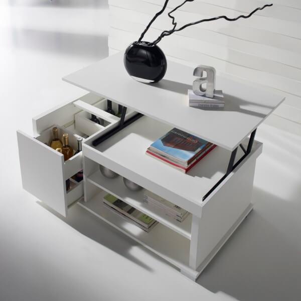 Обеденный журнальный стол с выдвижными ящиками