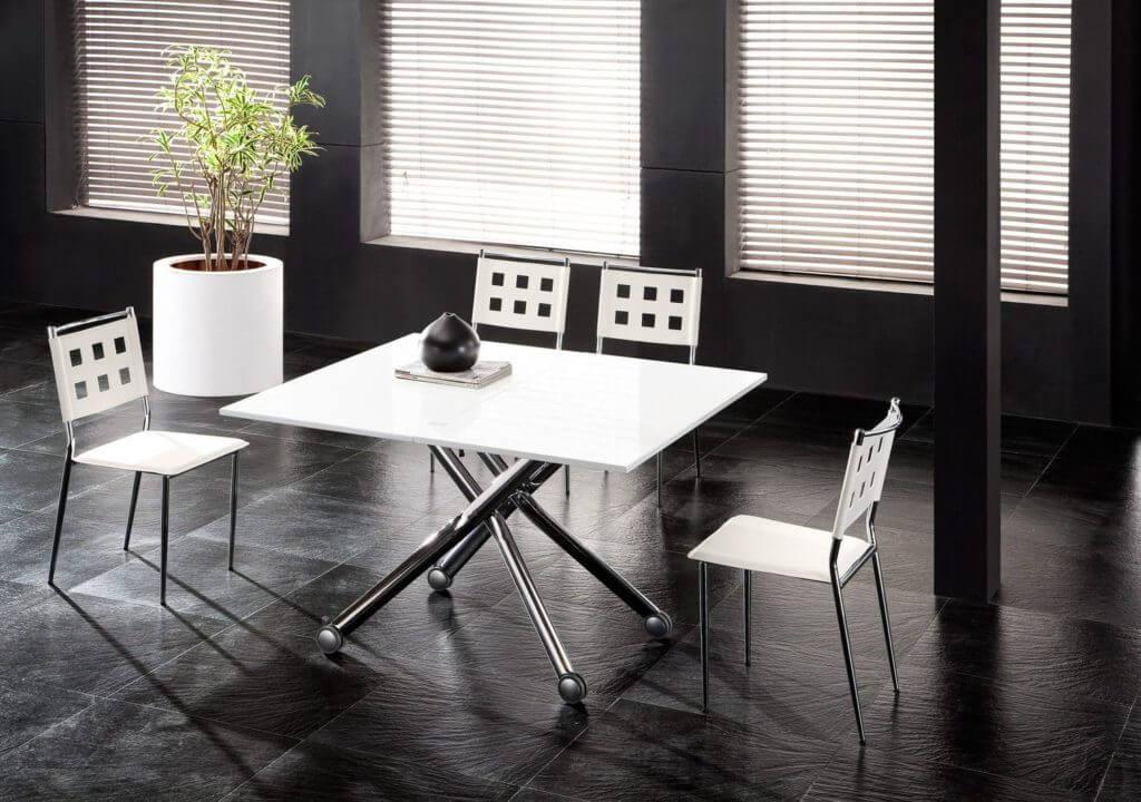 Белый обеденный журнальный стол