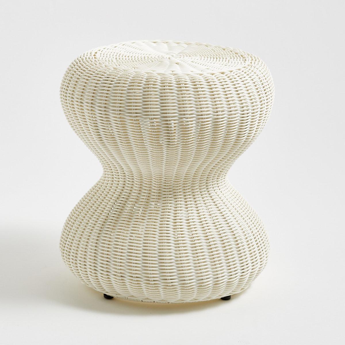 Фото плетенного табурета