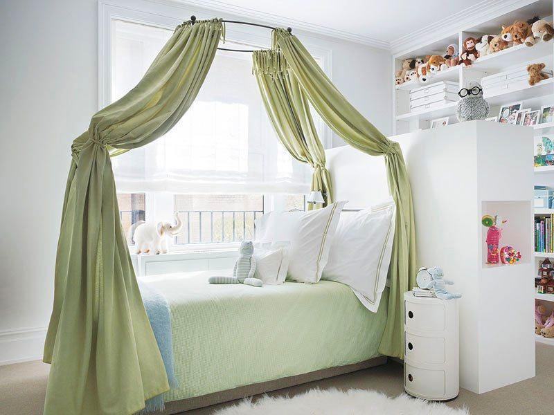 детская кровать с балдахином