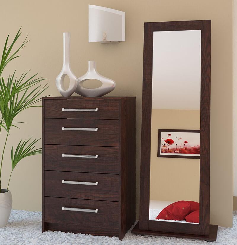 Фото комода с зеркалом в спальне