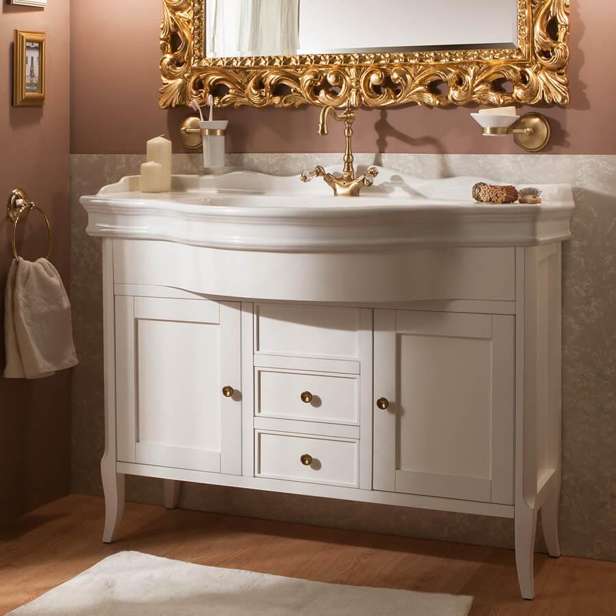 Фото комода для ванной белого цвета