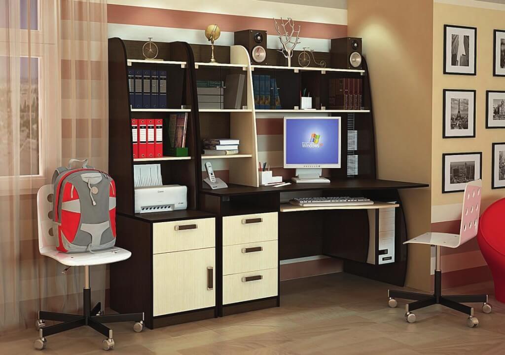 Фото стола компьютерного с надстройкой
