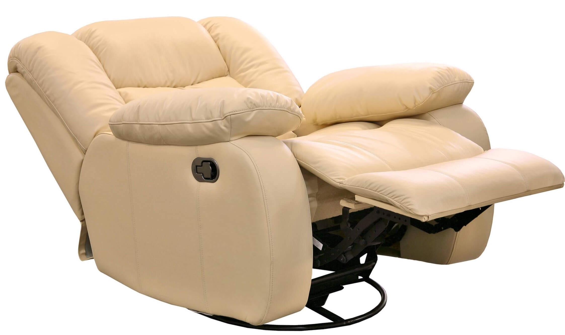 Бежевое кресло реклайнер