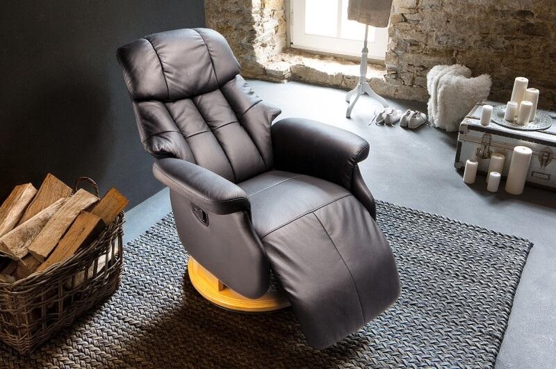 Кресло реклайнер черного цвета