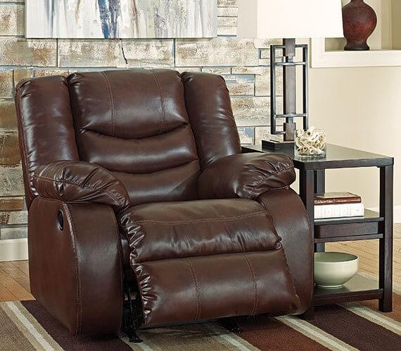 Кресло реклайнер коричневого цвета