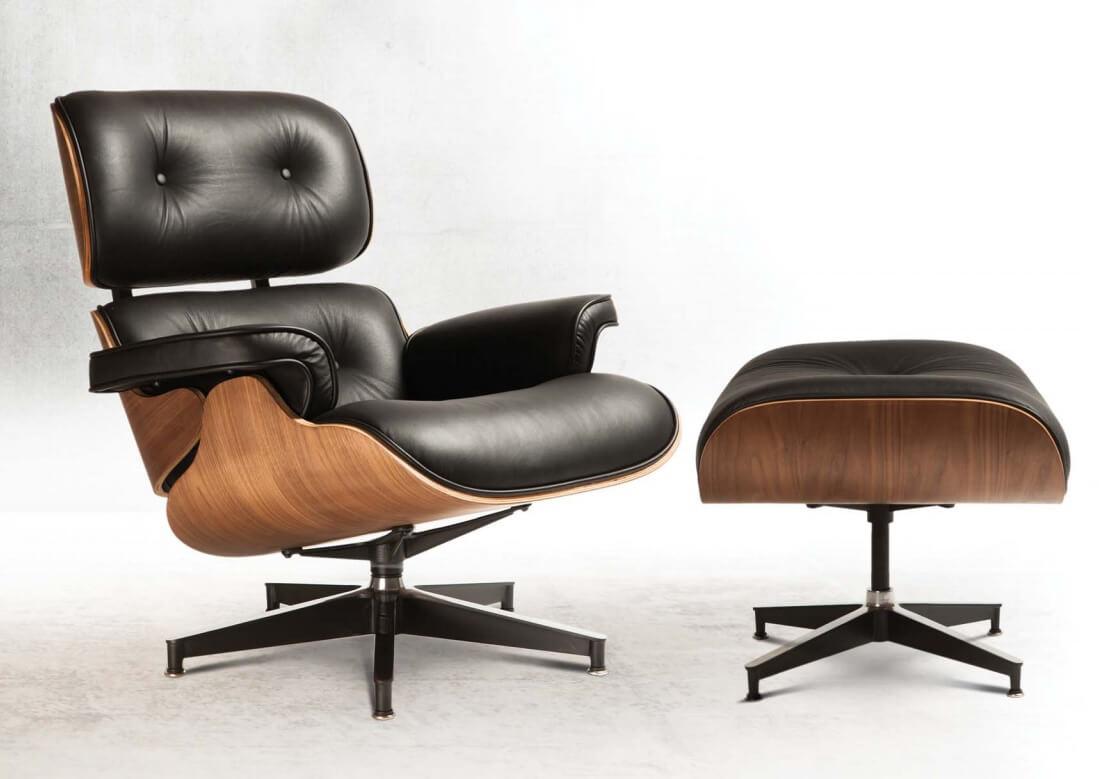 Вращающееся кресло с подставкой для ног