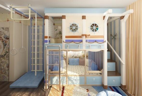 детская кровать со шведской стенкой