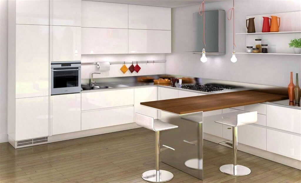 Обеденный стол объединенный с рабочей поверхностью