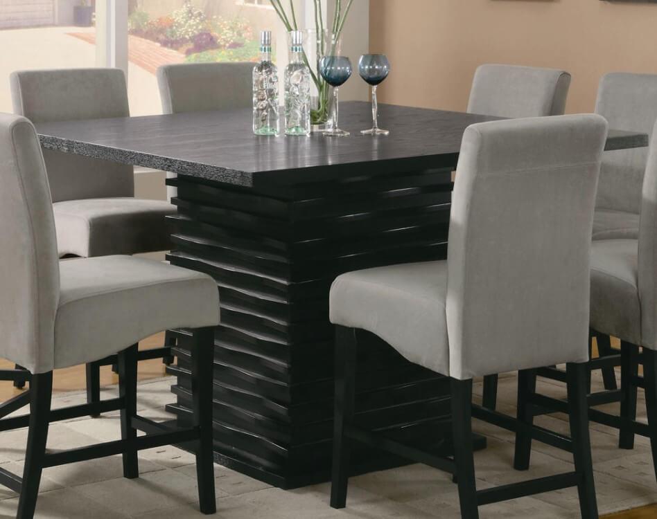 Черный кухонный стол из камня