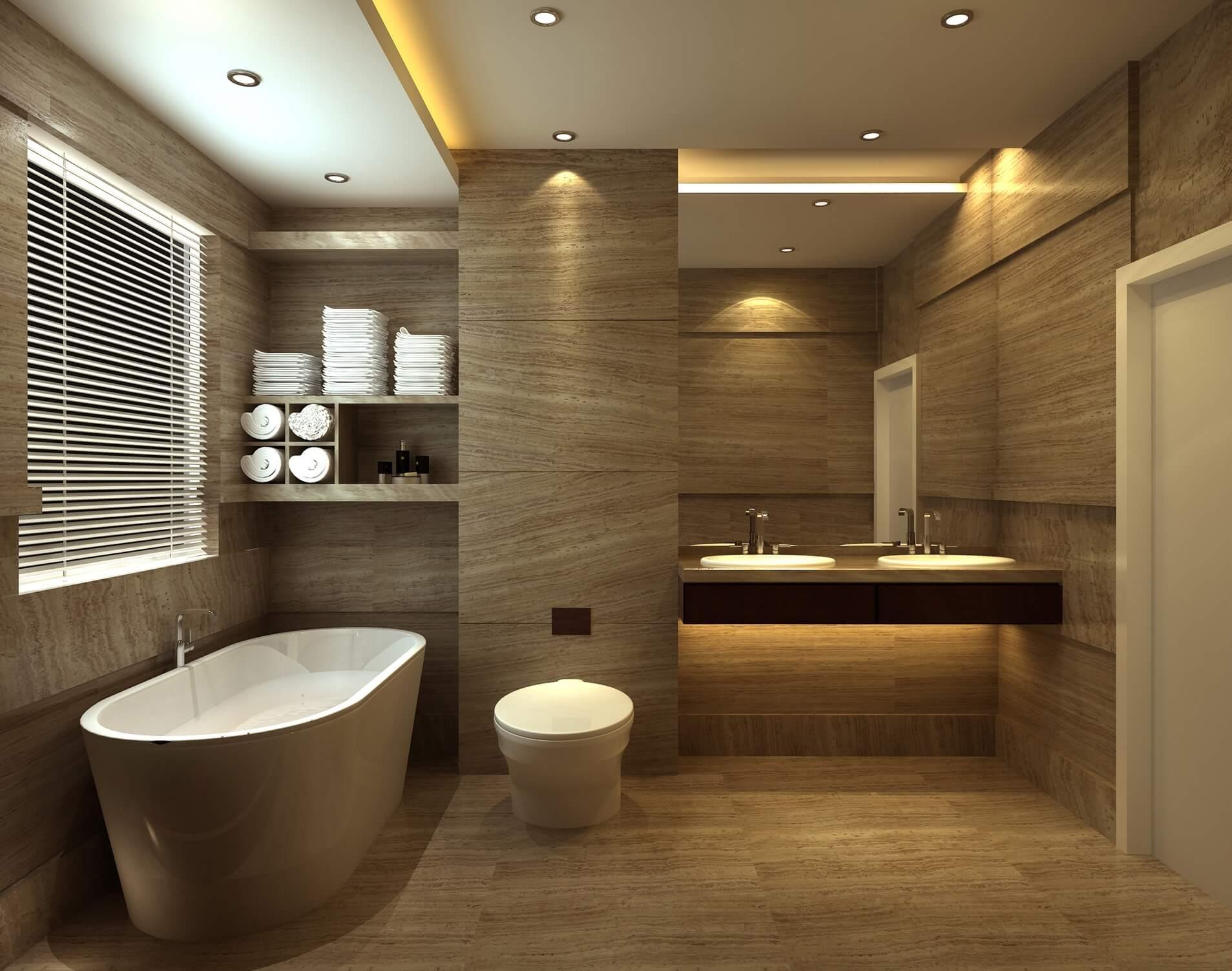 Подвесная тумба под раковину в ванную с подсветкой