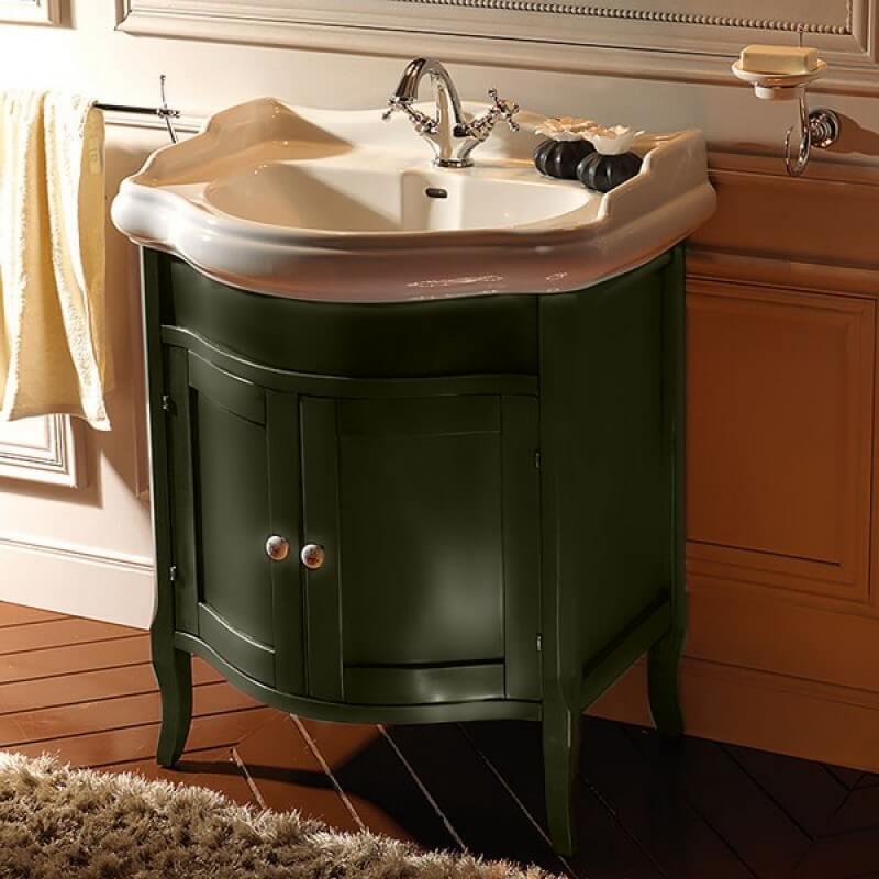 Тумба под раковину в ванную зеленого цвета
