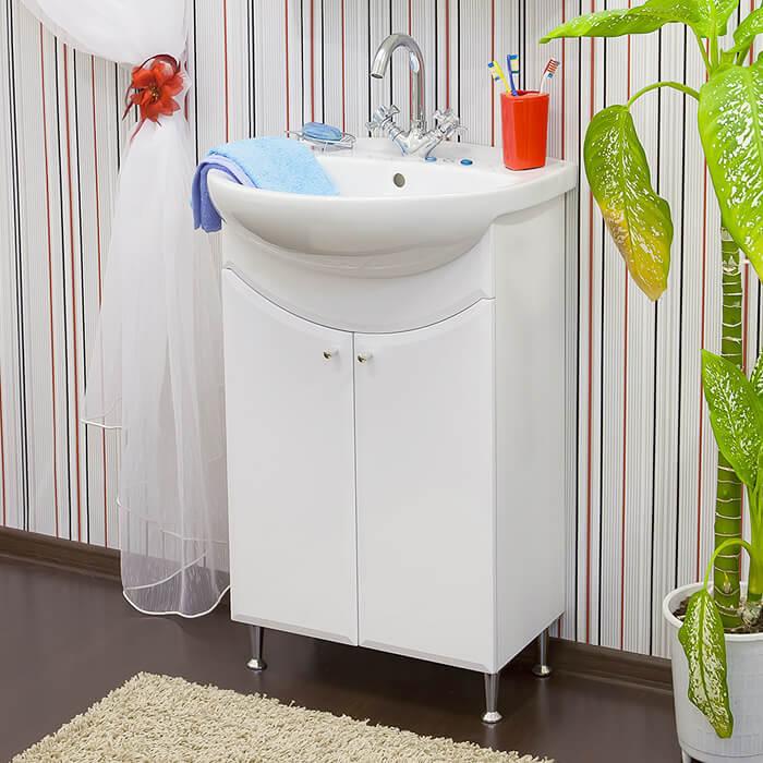 Фото тумбы под раковину в ванную белого цвета