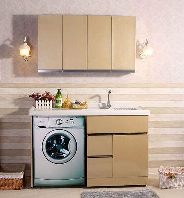 Фото тумбы под стиральную машинку с раковиной