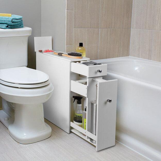 тумбочка в туалет белого цвета