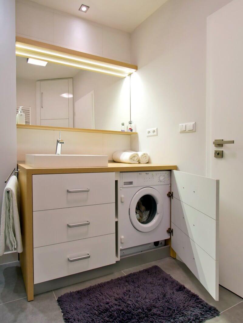 Напольная тумба в ванную комнату со столешницей