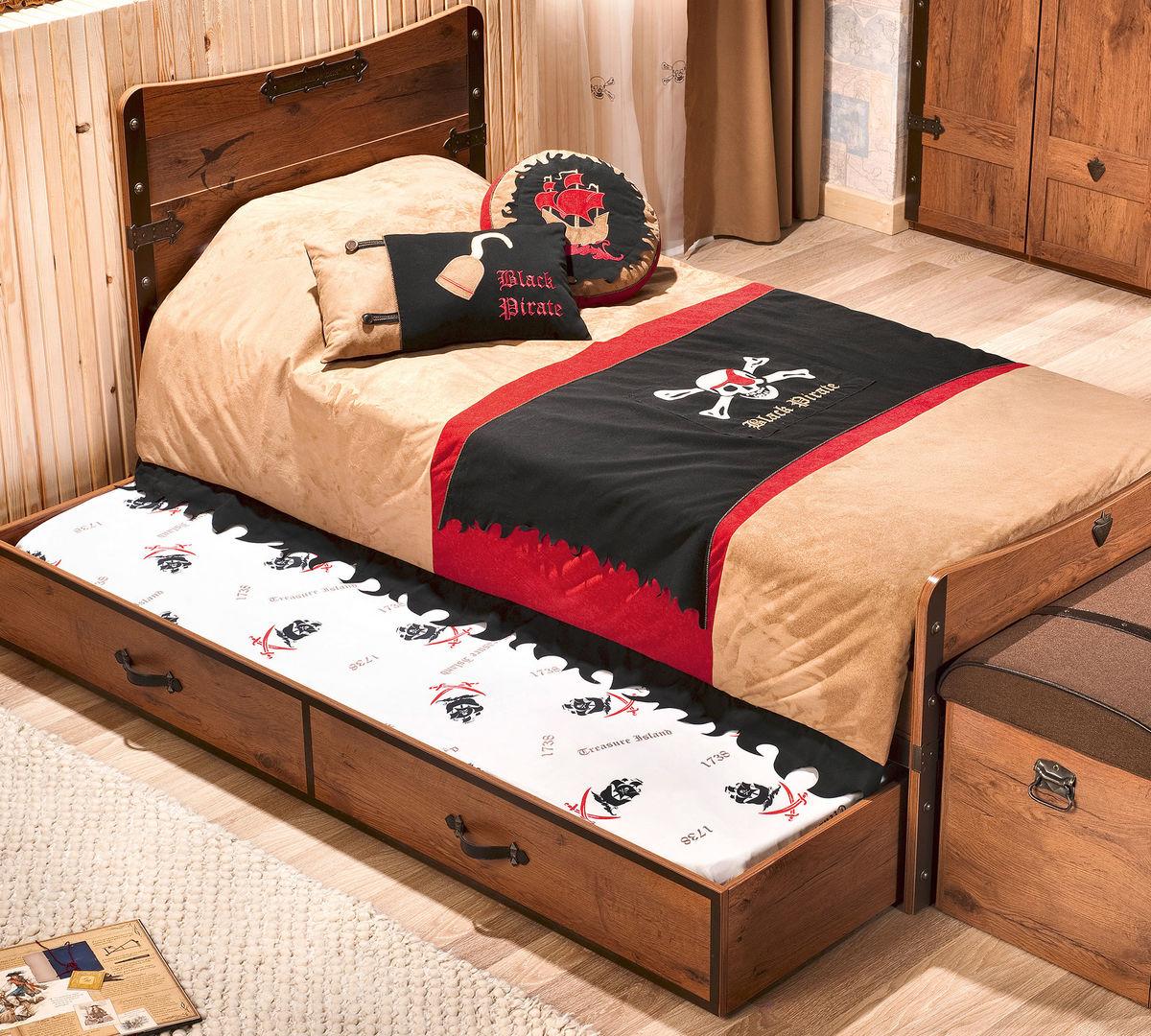 двухъярусная кровать с выдвижным нижним ярусом