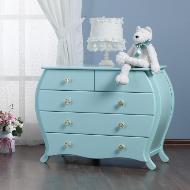 Детский комод голубого цвета