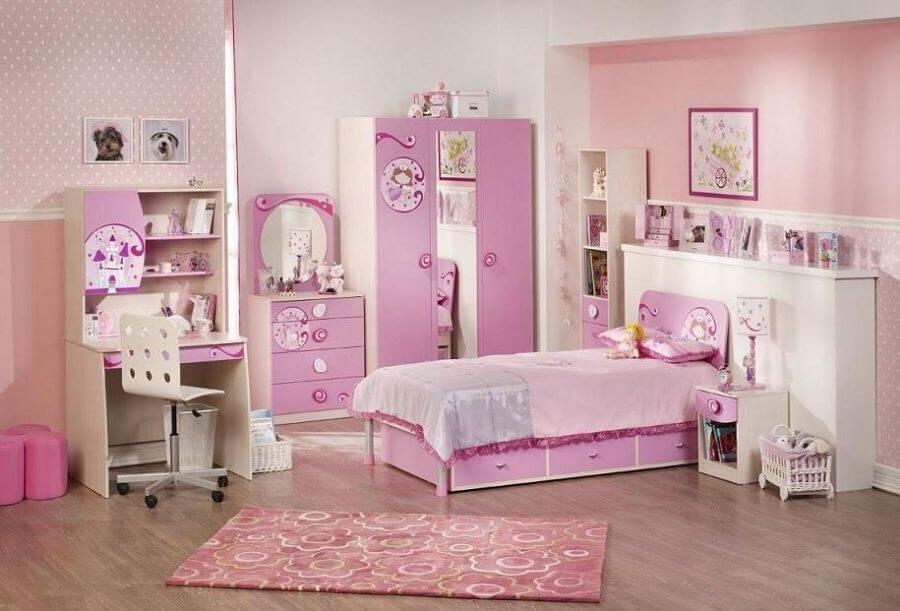 Комод для девочки розового цвета