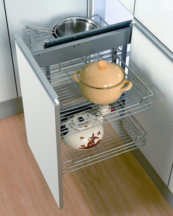 Тумбочки для кухни с ящиками белого цвета
