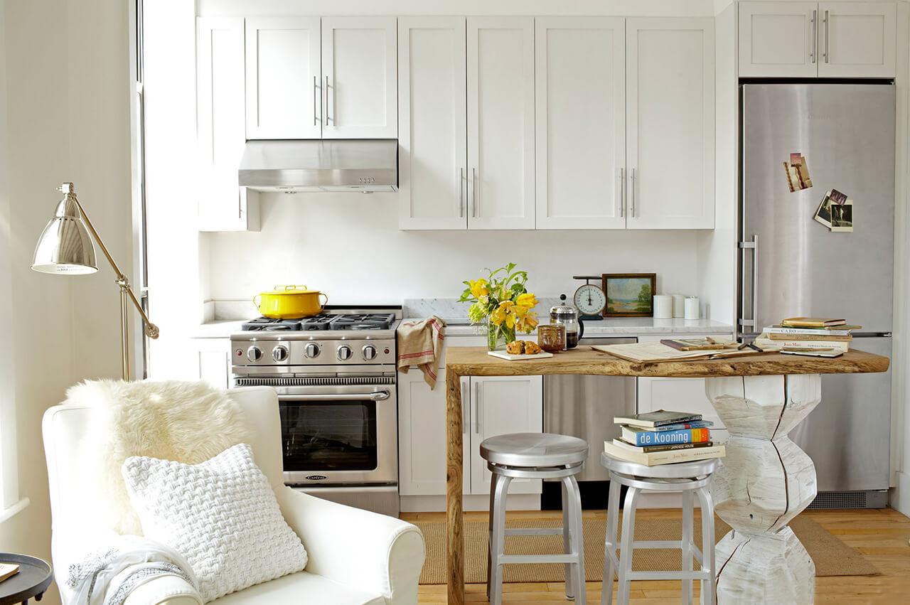 табурет в интерьере кухни