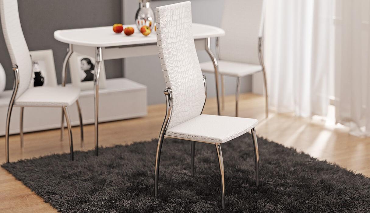 стул на металлическим каркасе