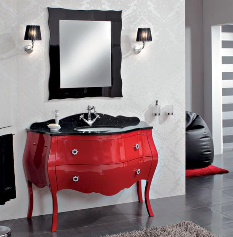 Напольная тумба с врезной раковиной в ванную