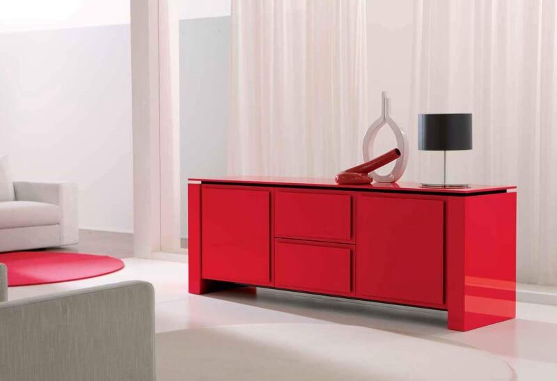 Комоды в гостиную красного цвета