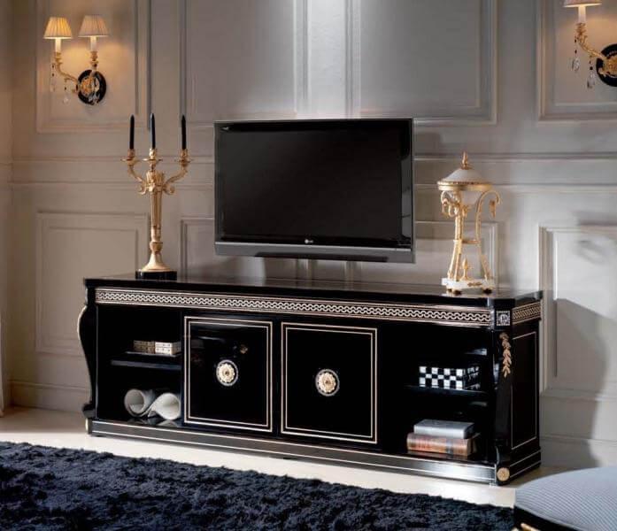Комод под телевизор черного цвета