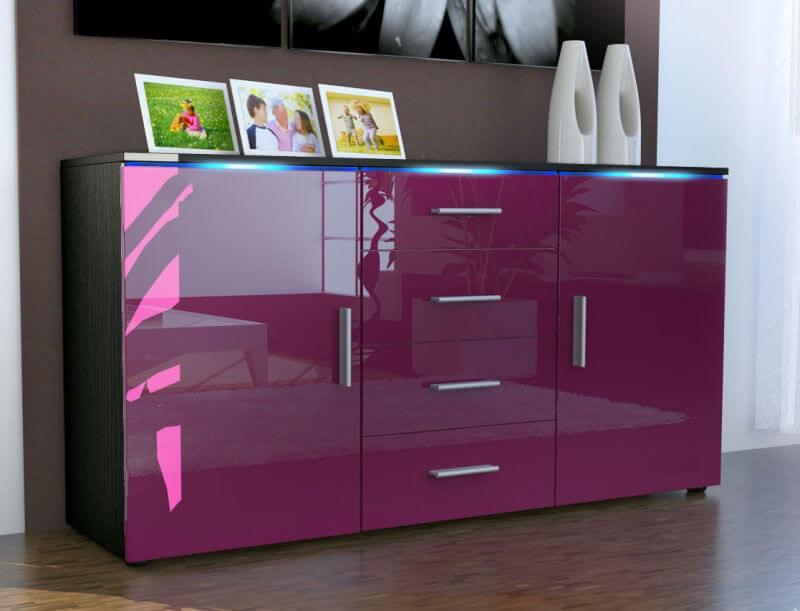 Современный комод розового цвета