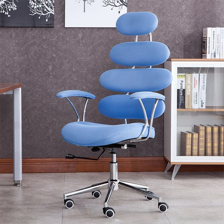 Синий крутящийся стул