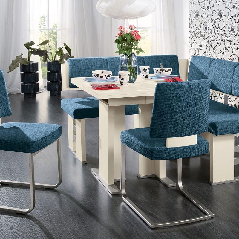 Мягкие стулья для кухни синего цвета