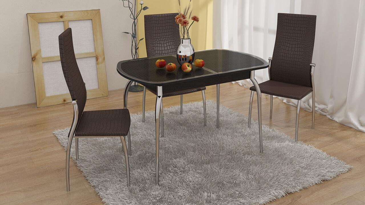 Обеденные стульян металлическом каркасе