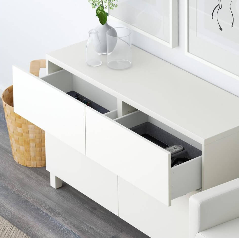 Шкаф комод белого цвета