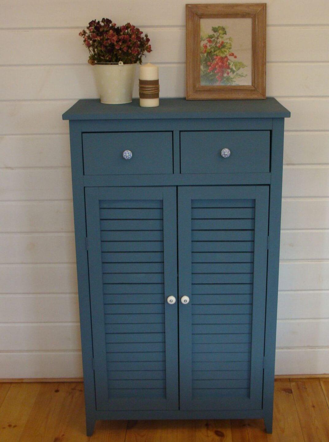 Шкаф комод синего цвета