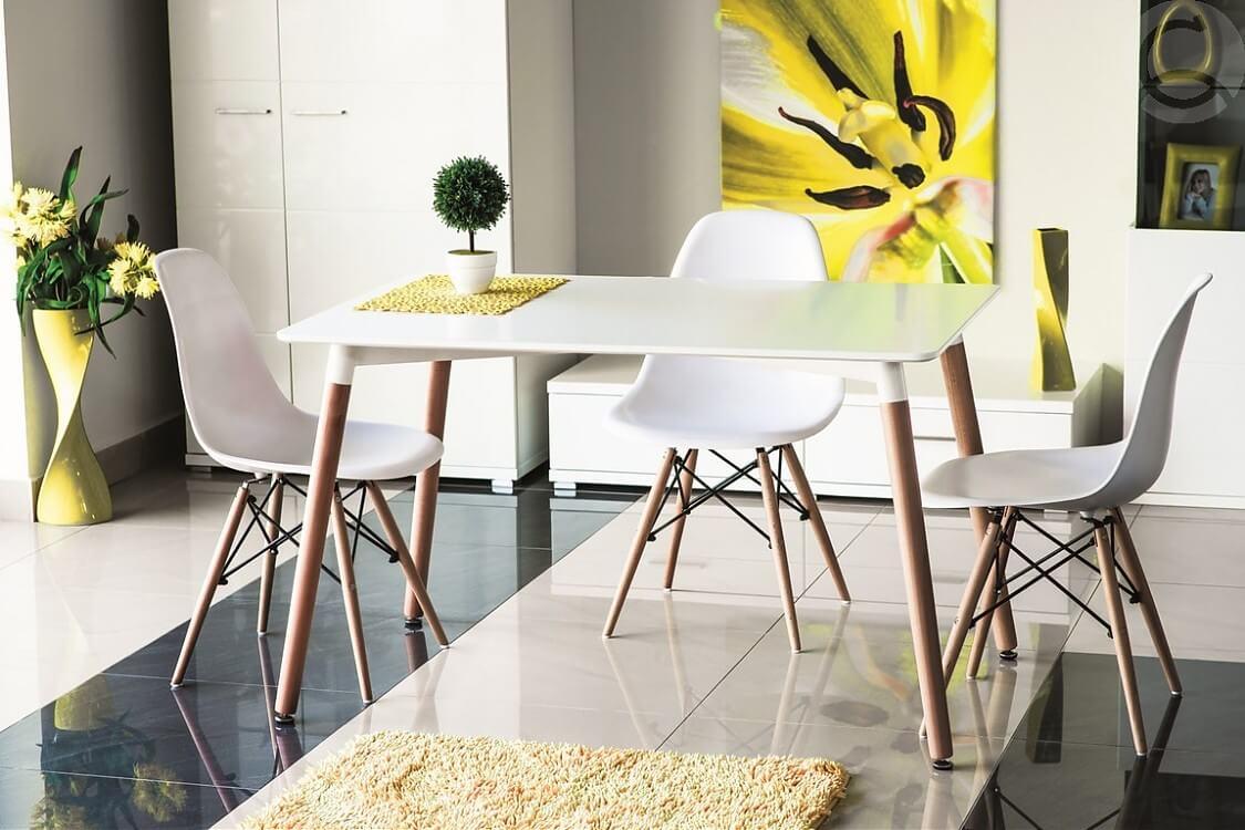 Современные кухонные стулья белого цвета