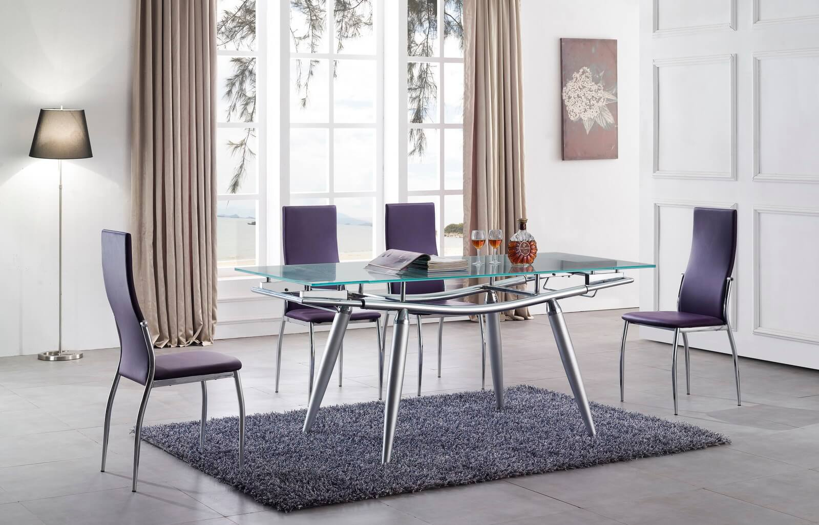 Кухонные стулья в современном стиле фиолетового цвета