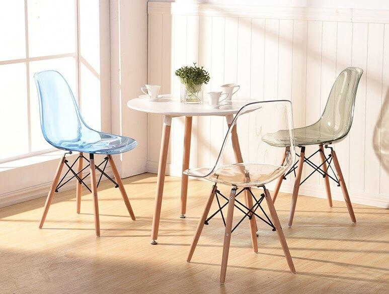 Современные прозрачные стулья