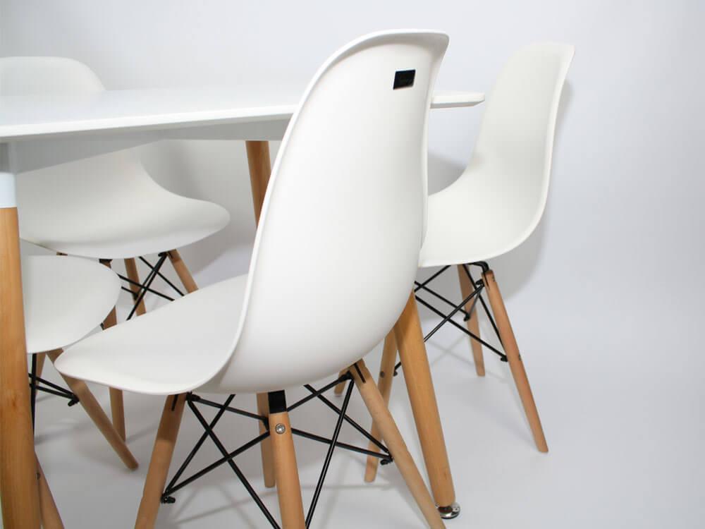 Белые современные стулья