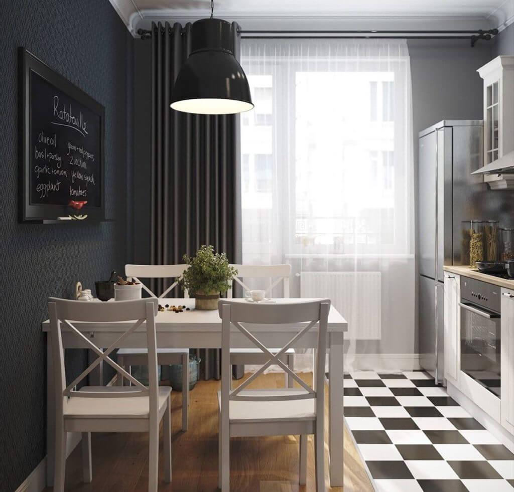 Белые стулья для маленькой кухни