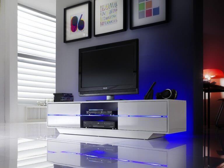 Тумбочка под телевизор с подсветкой